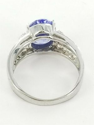 Women's Sterling Silver 925 Ring with Blue & White Stones #82558 for Sale in Lawrence, NY