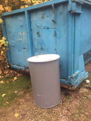 55 Gallon Metal Drum with lid for Sale in Grosse Pointe Park, MI