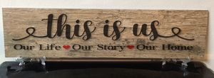 Wood Tiles customized with names or quotes for Sale in San Antonio, TX