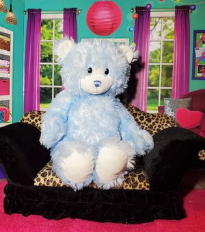 """16"""" Build A Bear Pastel Baby Boy Blue Soft Shaggy Teddy Embroidered Eyes Easter for Sale in Dale, TX"""