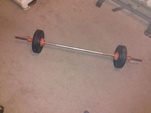 Five Foot Barbell with 30 Pounds of Weight Plates for Sale in Laurel, MD
