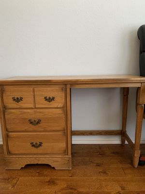 Antique wooden desk perfect for students, 100$. for Sale in Arlington, TX