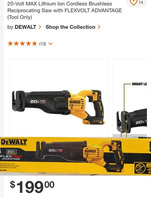 Cordless Sawzall with FLEXVOLT Advantage(TOOL ONLY) for Sale in Austell, GA