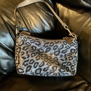 Coach Small Bag With Leopard Print , Never Used for Sale in East Bridgewater, MA