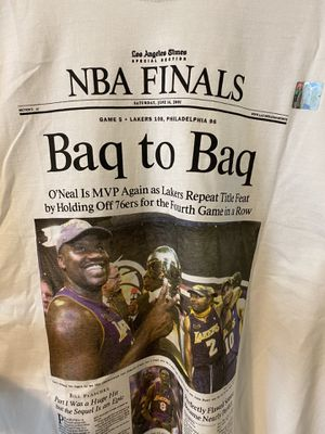 Shaq / Lakers / 2001 Championship T-Shirt for Sale in Los Angeles, CA