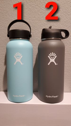 Hydro Flask 32 oz Wide Mouth W/ Straw Lid Vacuum Water Bottles for Sale in Ontario, CA