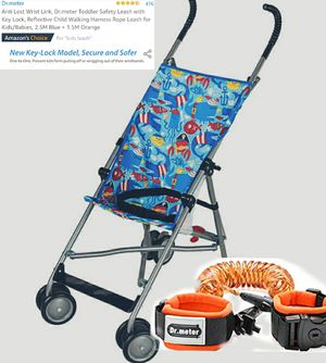New umbrella stroller & anti lost wrist toddler leash for Sale in Lacey, WA