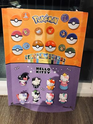 Limited edition McDonald's hello kitty and Pokémon toy set collection for Sale in Orem, UT