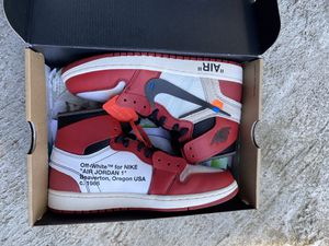 Off white Jordan 1 s Chicago size 8.5 PADS for Sale in Seattle, WA