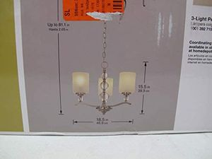 NIB Hampton Bay 3 Light Brushed Nickel Chandelier for Sale in Gahanna, OH