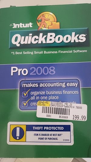 QuickBooks pro 2008 for Sale in Port St. Lucie, FL