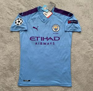 Gabriel Jesus Manchester City Brand New Men's Home Blue Champions League Player Version Soccer Jersey - Size M and L for Sale in Chicago, IL