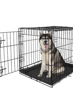 "Vibrant Life Single-Door Folding Dog Crate with Divider, 42"" for Sale in Hayward,  CA"