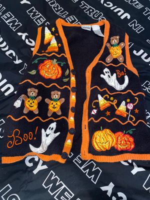 Halloween button up sweater vest size medium for Sale in Las Vegas, NV