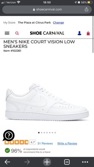 Nike Vision Court Low White for Sale in New Port Richey, FL