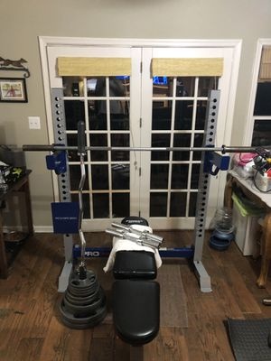 full home gym weight set up for Sale in Falls Church, VA