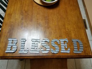 Metal letters spelled BLESSED for Sale in Colorado Springs, CO