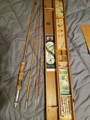 Granpus bamboo fly fishing rod. Saltwater set. for Sale in Las Vegas, NV
