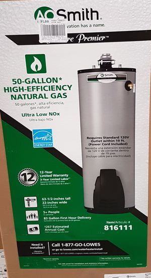 AO Smith water heater 50 Gallons 750$ brand new for Sale in Corona, CA