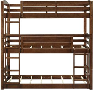 Wood Triple Bunk Bed for Sale in Dallas, TX