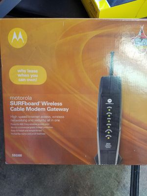 Motorola surface board wireless cable modem Gateway for Sale in Stockton, CA