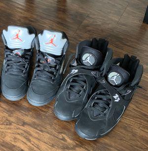Nike air Jordan retro size 10 metallic 5 chrome 8 for Sale in Tampa, FL