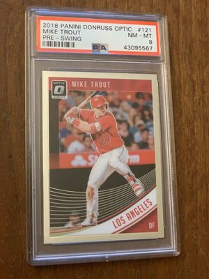 Cased graded 2018 Mike Trout card! for Sale in Wheaton, MD