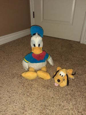 Donald duck and pluto plush for Sale in Mesa, AZ
