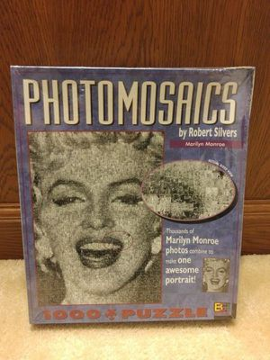 Photomosaics Jigsaw Puzzle Marilyn Monroe 1000 Pieces Buffalo Games New In Sealed Box for Sale in Charlotte, NC