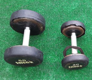 70lbs Intek Dumbbell Weights 1x50lbs 1x20lbs for Sale in Hollywood, FL