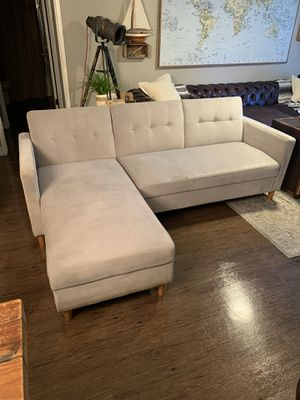 Chaise Sleeper Sectional Couch With Storage for Sale in Costa Mesa, CA