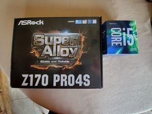 Intel i5-6600 Processor + ASRock Z170 PRO4S Motherboard for Sale in Danvers, IL