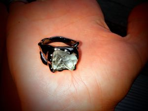 925 StaMped BLaCk GoLd CRyStaL CLaw RiNg for Sale in Bountiful, UT