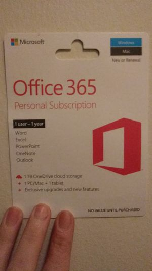 Office 365 1 year personal subscription. for Sale in Seminole, FL