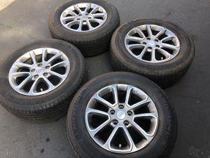 """(4) 18"""" Jeep Wheels + 265/60R18 Michelin - $280 for Sale in Santa Ana, CA"""