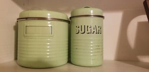 Vintage flour and sugar jars for Sale in Puyallup, WA