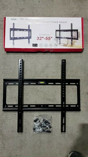 Brand New LCD LED Plasma Flat Fixed TV Wall Mount stand bracket fits 32 to 55 inch tv sizes television bracket 100 lbs capacity for Sale in Whittier, CA
