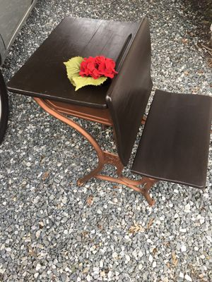 Gorgeous antique school desk porch pick up in Burlington firm price for Sale in Burlington, NC