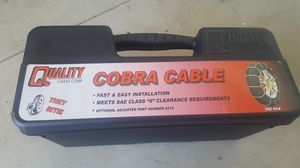Never used snow cable for car/truck. for Sale in San Jacinto, CA