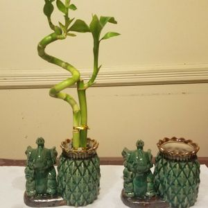 Majolica Lucky Elephant Pineapple Pottery for Sale in Brooklyn, NY