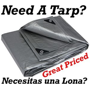 We have many silver and white tarps in stock .Lonas for Sale in Los Angeles, CA