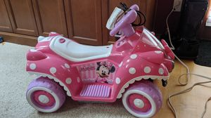 Minnie mouse kids quad battery powered ride on toy for Sale in Seattle, WA