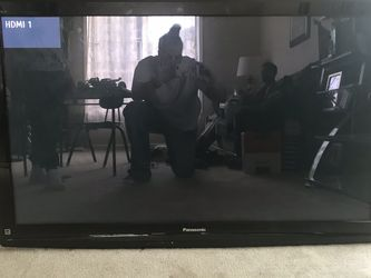 55 Inch Panasonic Flat Screen TV With Remote And TV Stand for Sale in SeaTac,  WA