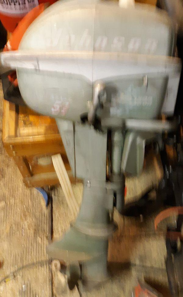 Johnson Seahorse Boat Motor 5 1/2hp runs