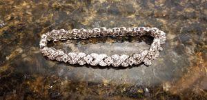 4.14 carat tw diamond bracelet in 18 karat white gold for Sale in Federal Way, WA