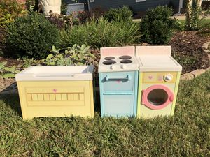 3 Playskool Toys--Oven, Washing Machine Baby Changing Table c2006 $45 firm for Sale in Chesapeake, VA