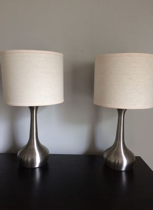 Pier 1 Genie Silver Table Lamps for Sale in Nashville, TN