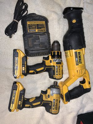 Dewalt tools 20v reciprocating saw drill and hex impact led not working on impact for Sale in Tacoma, WA
