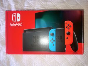 Nintendo Switch with Neon Blue and Neon Red Joy‑Con - HAC-001(-01) for Sale in Flower Mound, TX