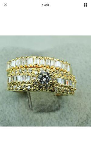 2Pcs Engagement Wedding Ring Set Size 7,9 for Sale in Nashville, TN
